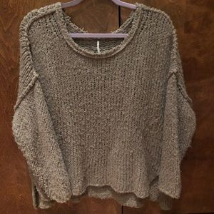 Free People Teddy Bear Oversized Sweater XS